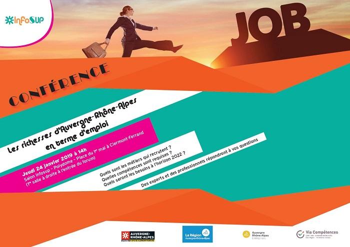 Conférence Les richesses d'Auvergne- Rhône-Alpes en terme d'emploi