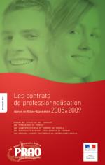 Contrats de professionnalisation signés en Rhône-Alpes de 2005 à 2009