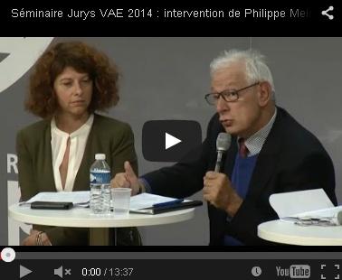 Retour en vidéos sur le séminaire jurys VAE 2014