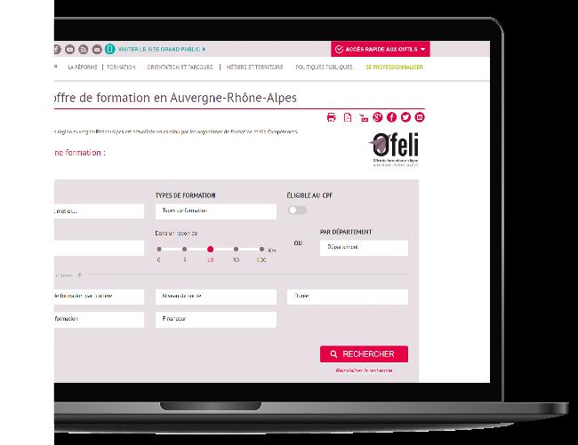 Offre de formation en ligne OFELI en Auvergne-Rhône-Alpes