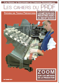 Cahier du PRDF - Métiers de l'agro-alimentaire