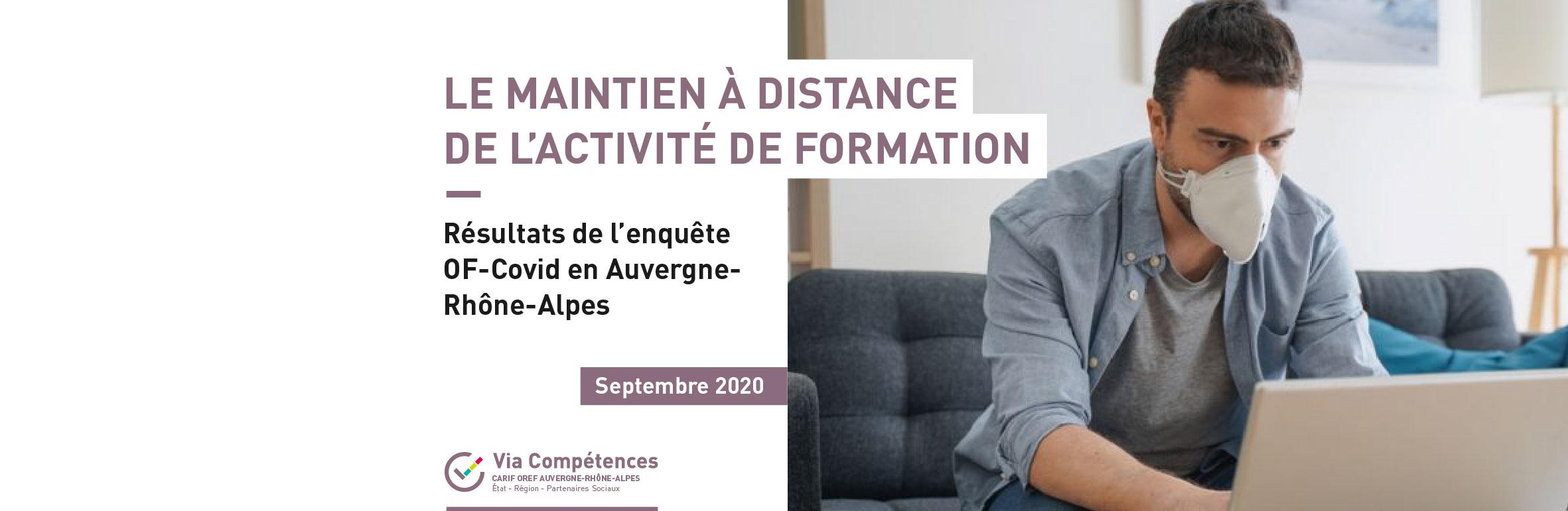 Covid-19 et formation à distance : résultats de l'enquête en Auvergne-Rhône-Alpes