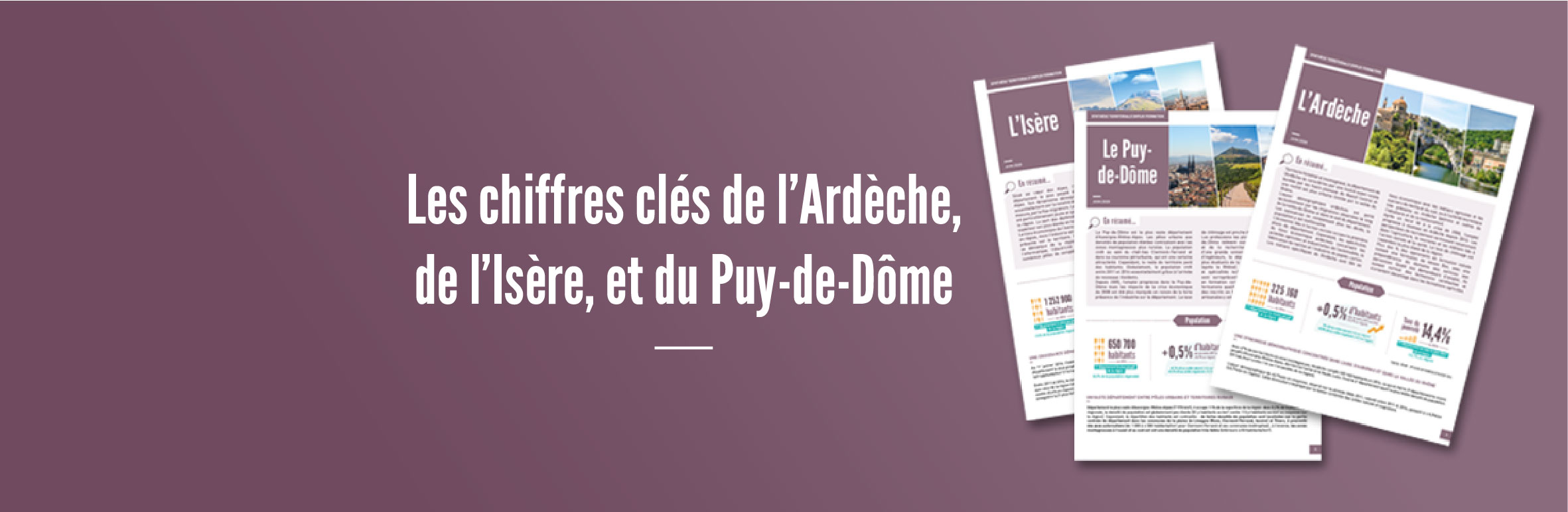 Synthèses territoriales emploi formation des départements de l'Ardèche, l'Isère et du Puy de Dôme